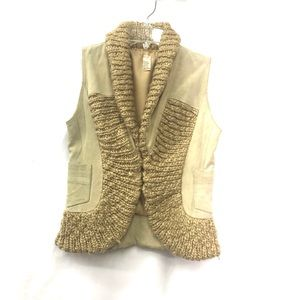 Free People 100% Cow Suede Leather Vest
